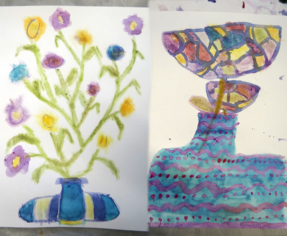 Création artistes en herbes
