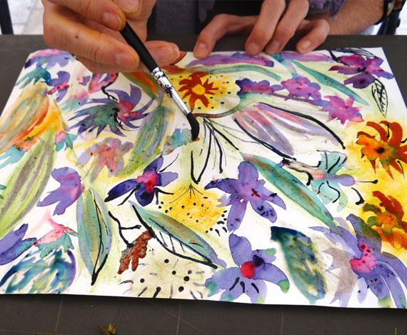 Atelier artistes en herbes