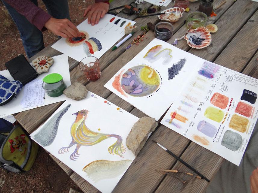 Atelier peinture à l'oeuf