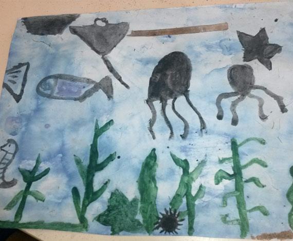 Création couleurs de la mer