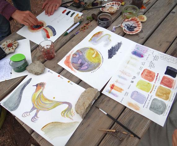 Peinture végétale à l'oeuf